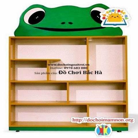 Kệ đồ chơi hình con ếch gỗ thông