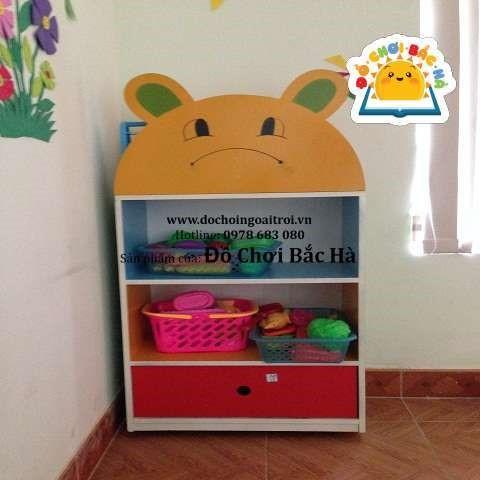 tủ đồ chơi hình đầu gấu