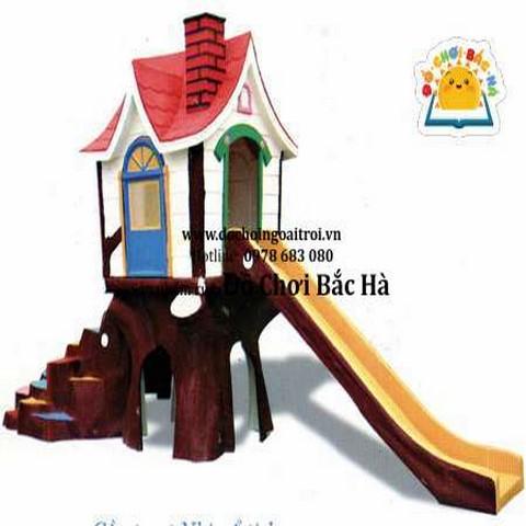mô hình nhà chơi cầu trượt nhà cổ tích