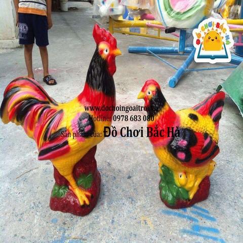 tượng gà trống gà mái