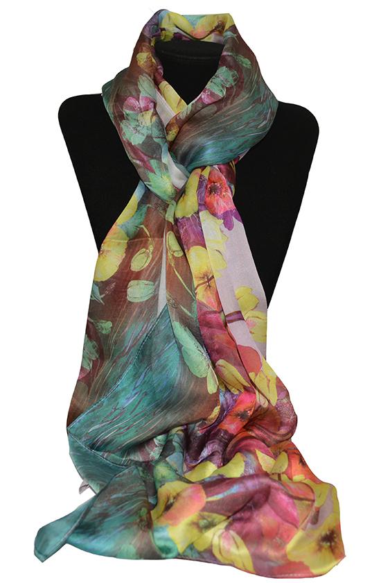 Khăn lụa KL422 cao cấp khăn quàng cổ nữ