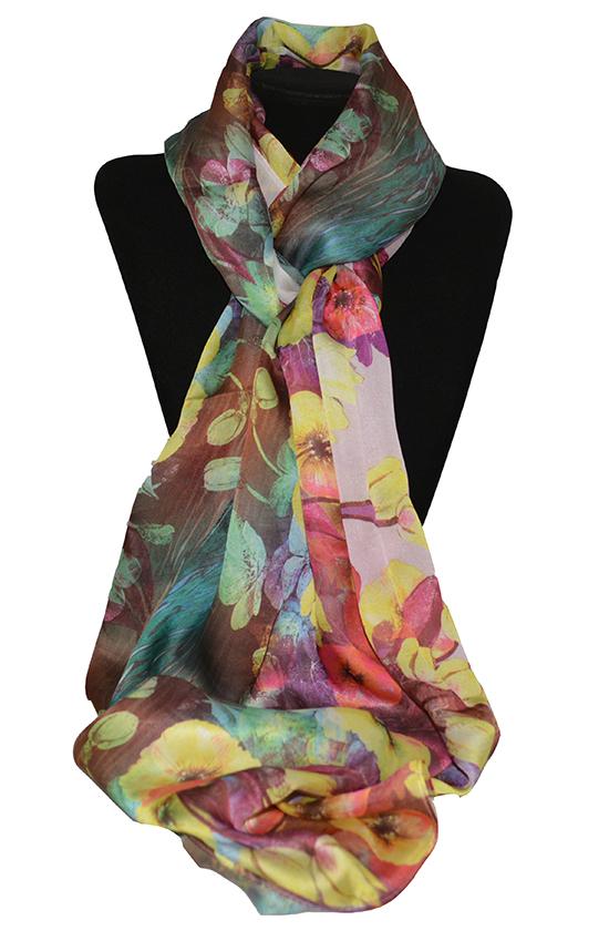 Khăn lụa KL422 cao cấp khăn quàng cổ nữ 1