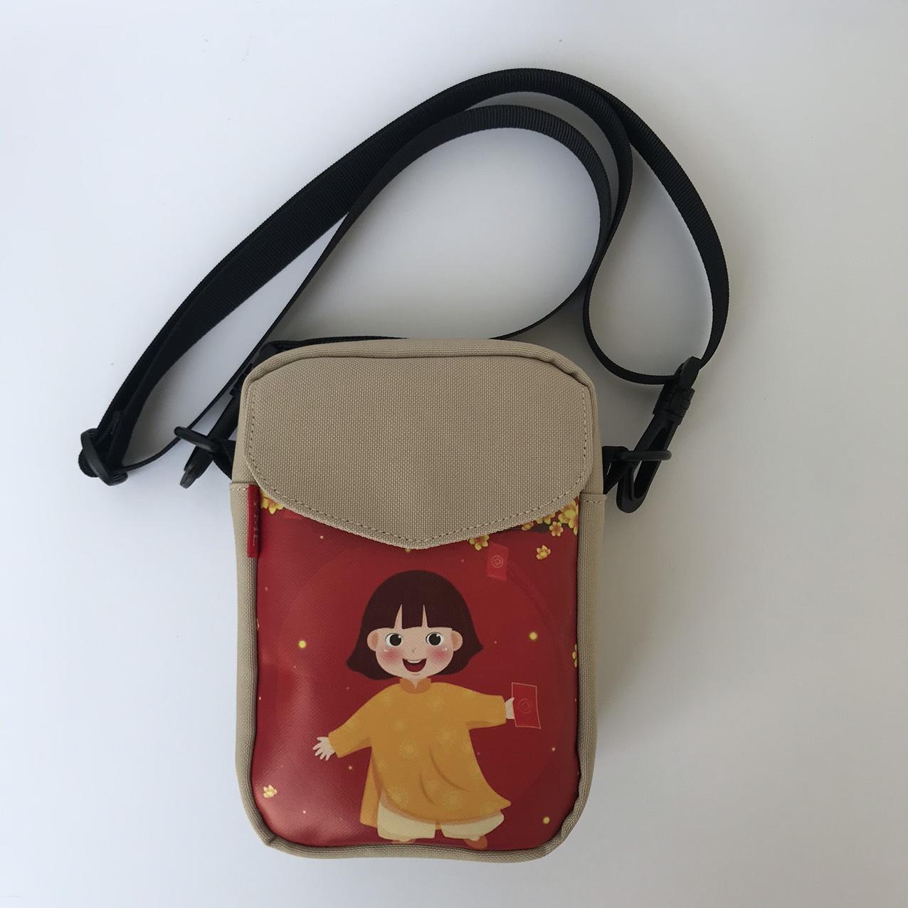 Túi đeo chéo chơi tết Túi đựng lì xì đáng yêu cho bé