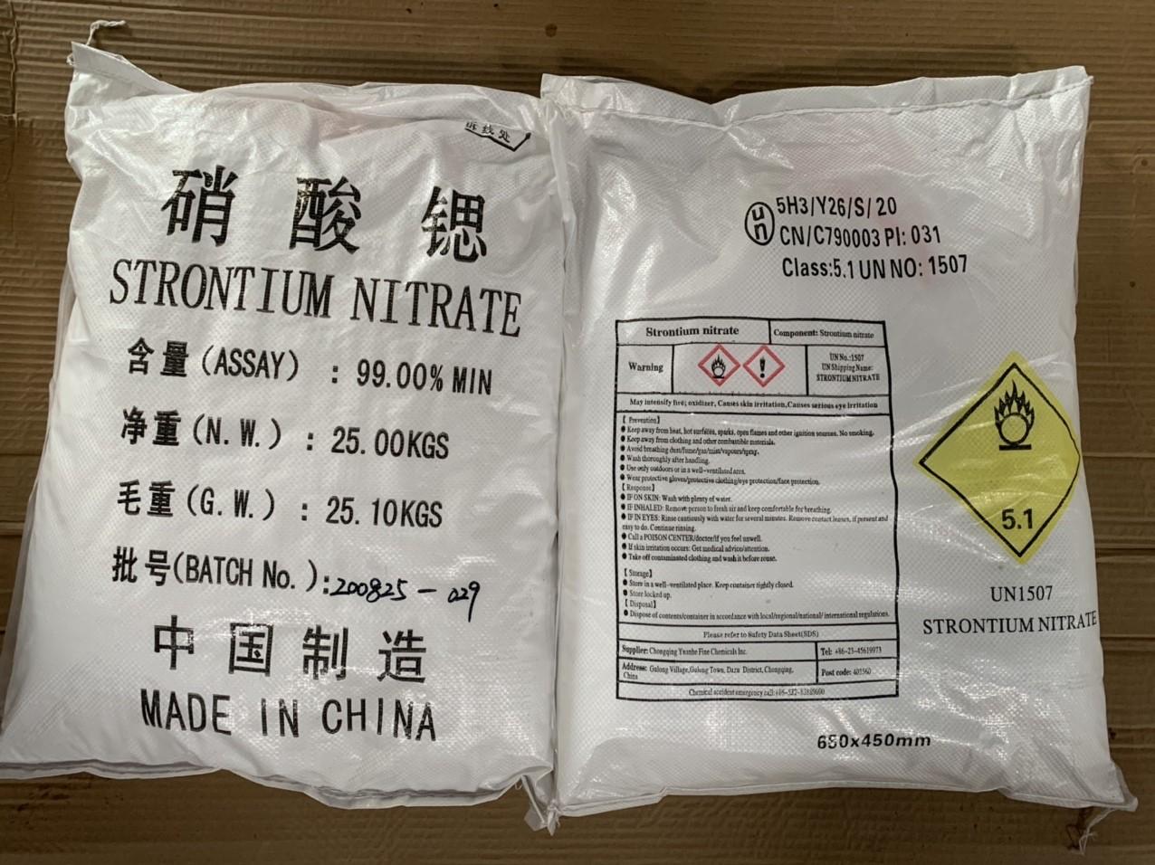 Strontium nitrate - Sr(NO3)2