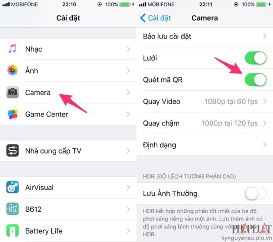 Cách quét QR Code trên iphone mà không cần cài ứng dụng – Hoàng Kiên