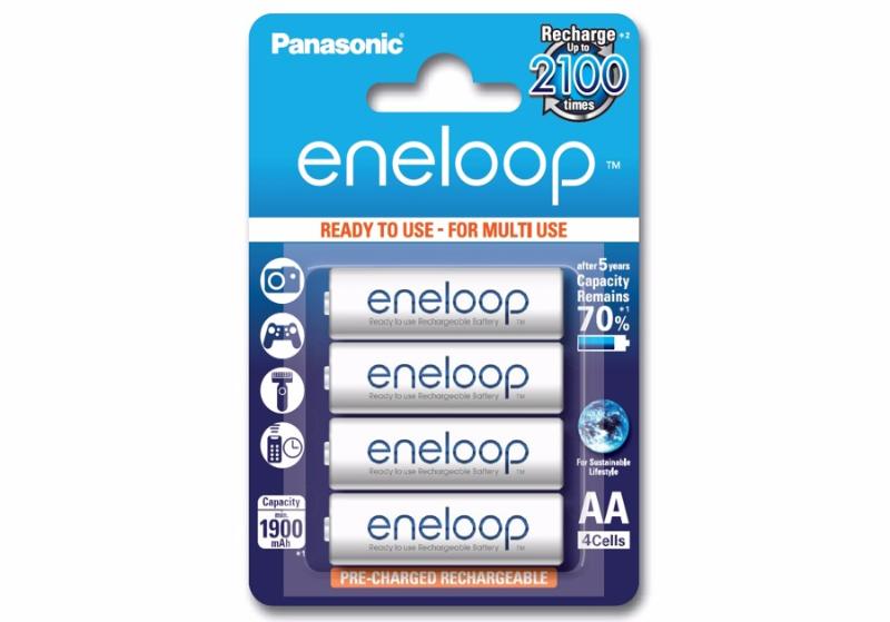 Pin sạc 2A Eneloop (4 viên/vỉ)