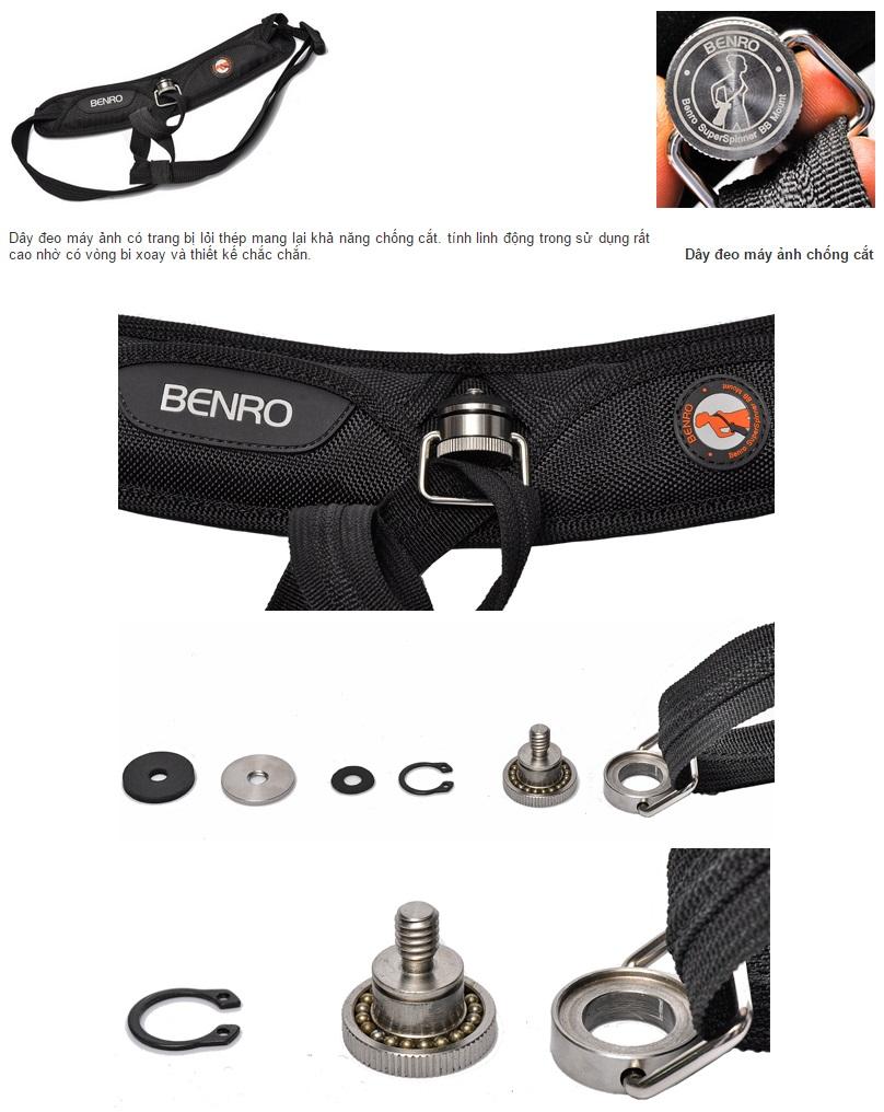 Dây đeo máy ảnh chống cắt Benro CS1