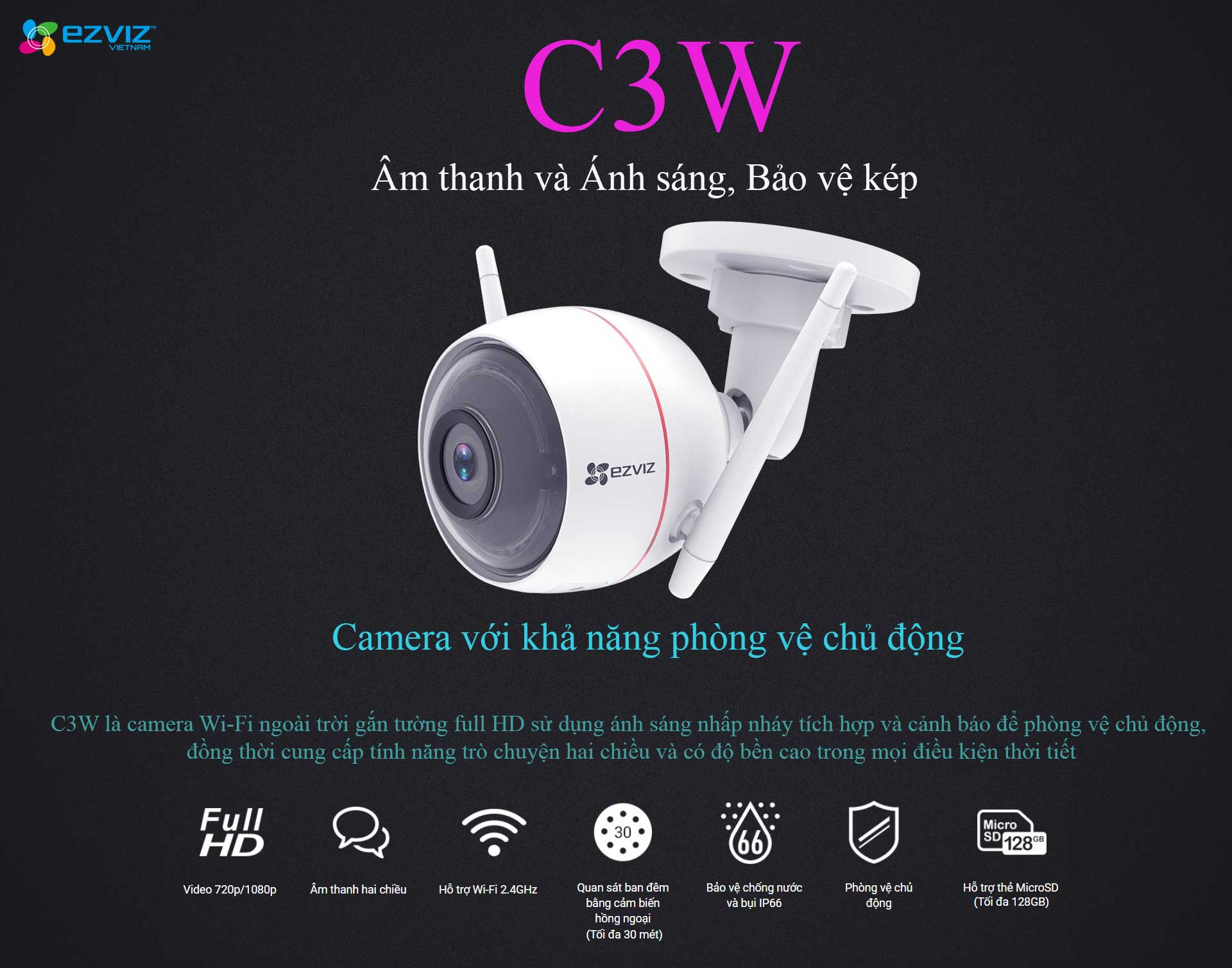 Ezviz C3W 1080P Full Color NEW (CS-CV310)