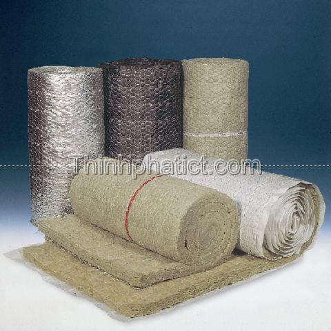 Bông khoáng dạng cuộn có lưới thép