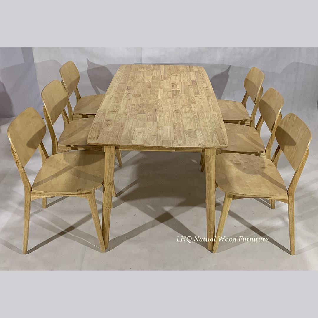 bộ bàn ghế ăn nan quạt