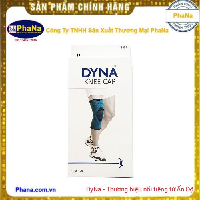 Đai hỗ trợ đầu gối cao cấp cho thể thao - DYNA Knee Cap Premium Grey/Black (Hàng nhập Ấn Độ)