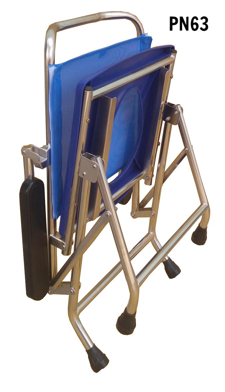 PN63 - Ghế vệ sinh inox không bánh xe