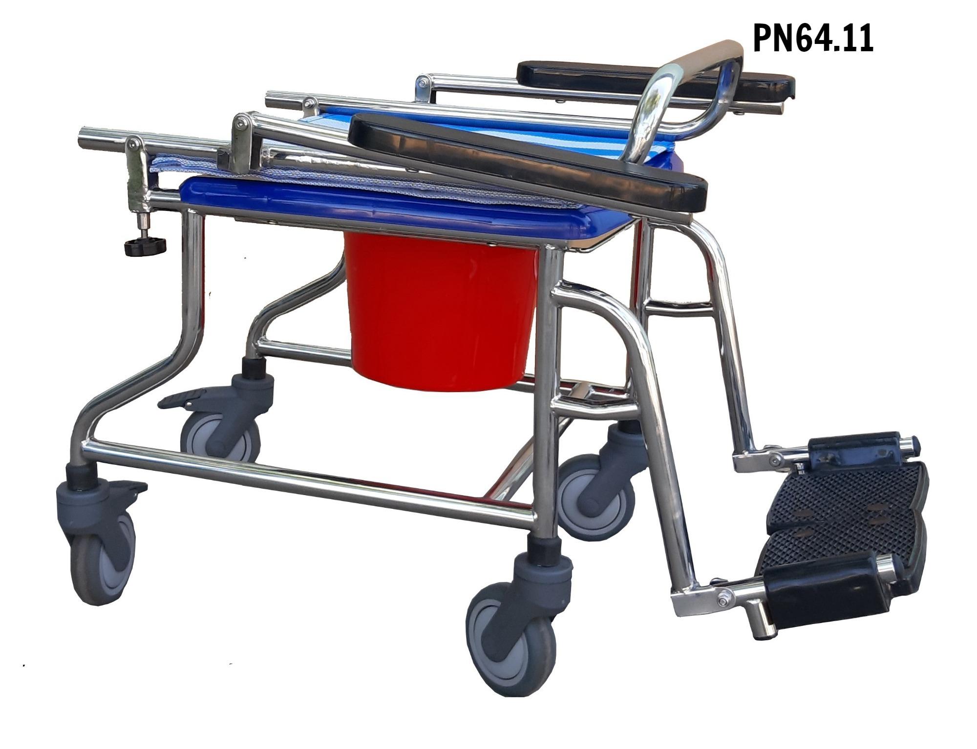 PN64.11 - Ghế vệ sinh có bánh xe (mẫu mới 2020)