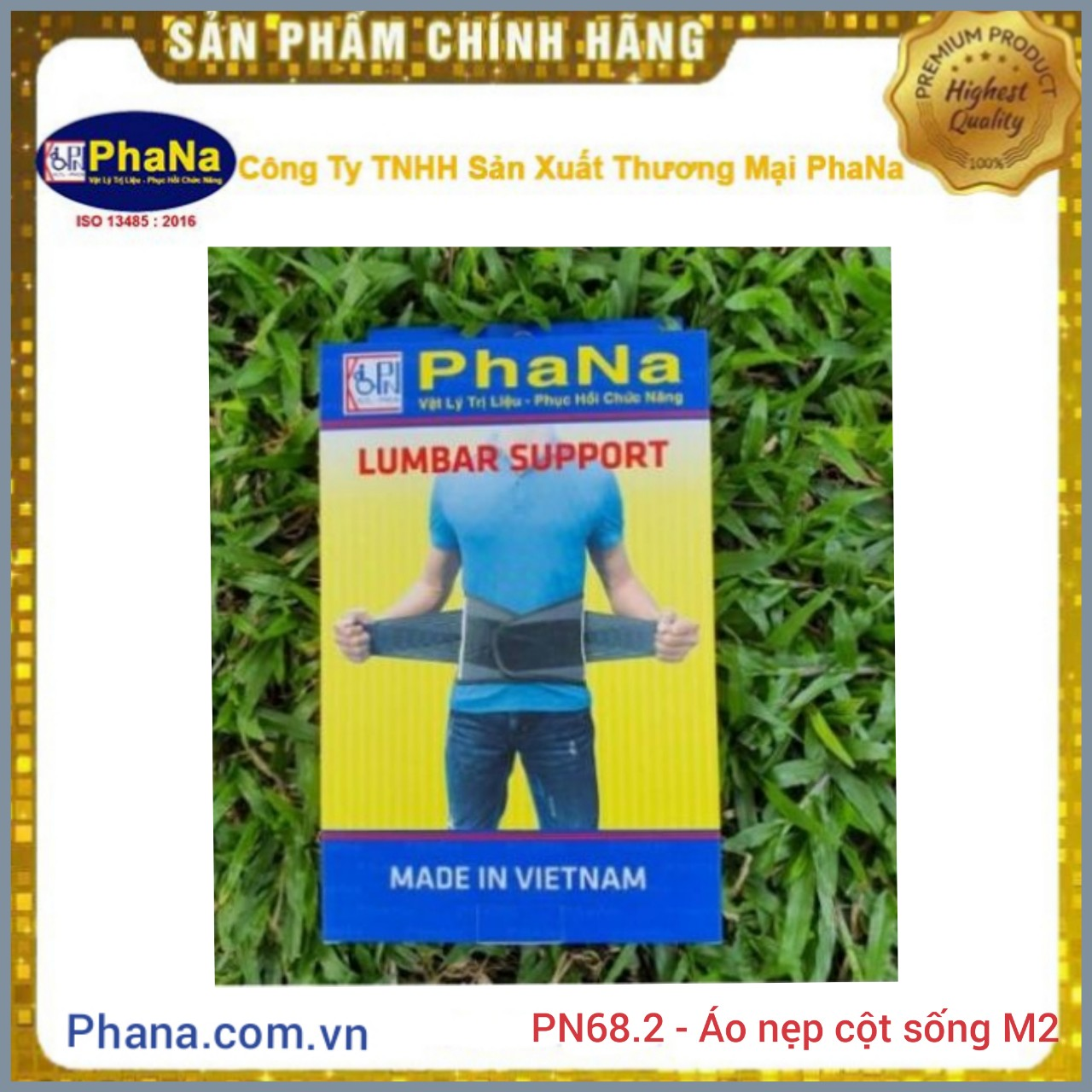 PN68.2 - ÁO NẸP CỘT SỐNG THẮT LƯNG M2 (PhaNa)