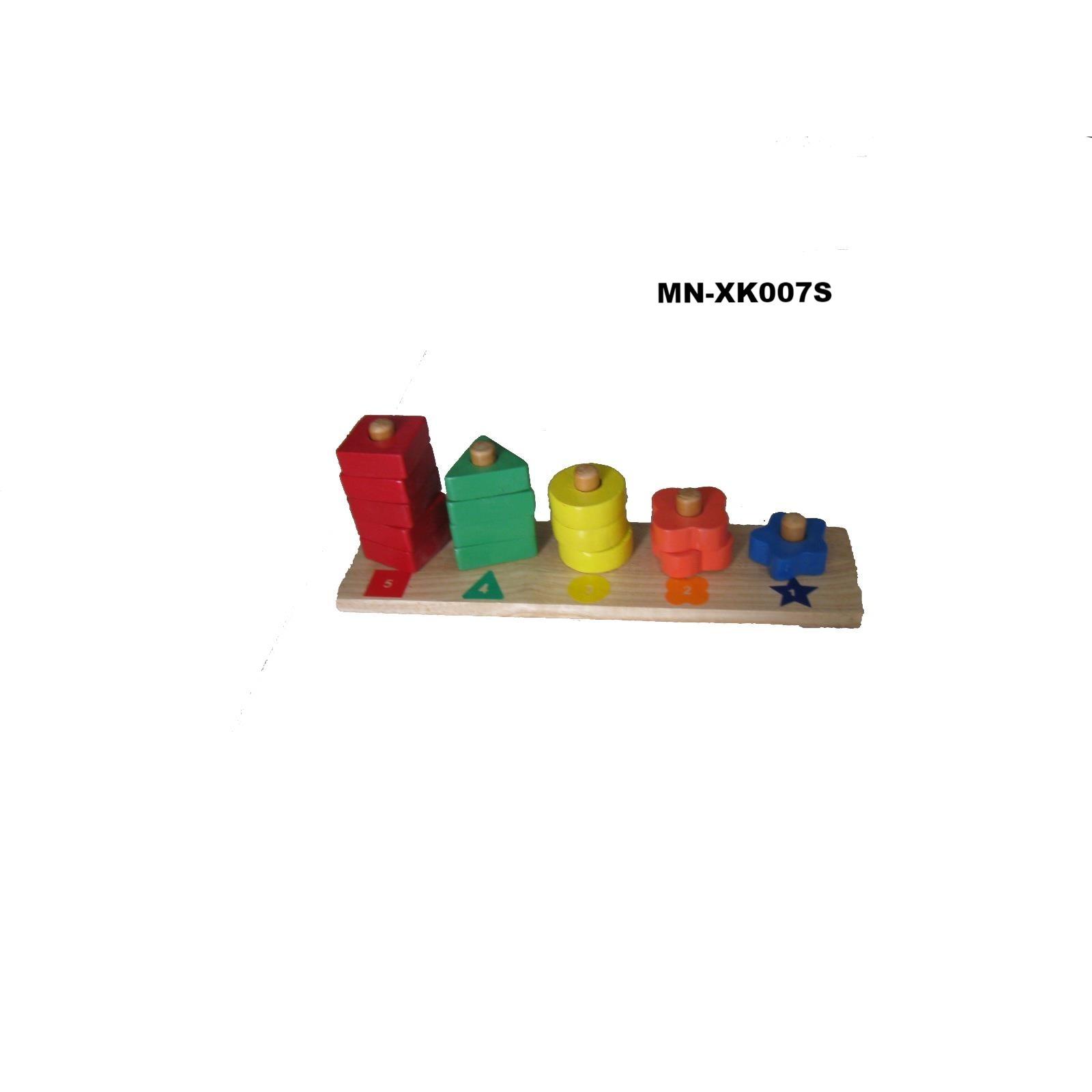 MN-XK007S - Học đếm đến 5 ( xếp đa hình qua lổ giảm dần)