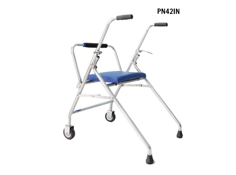 PN42IN - Khung tập đi có ngồi cho trẻ em (inox)