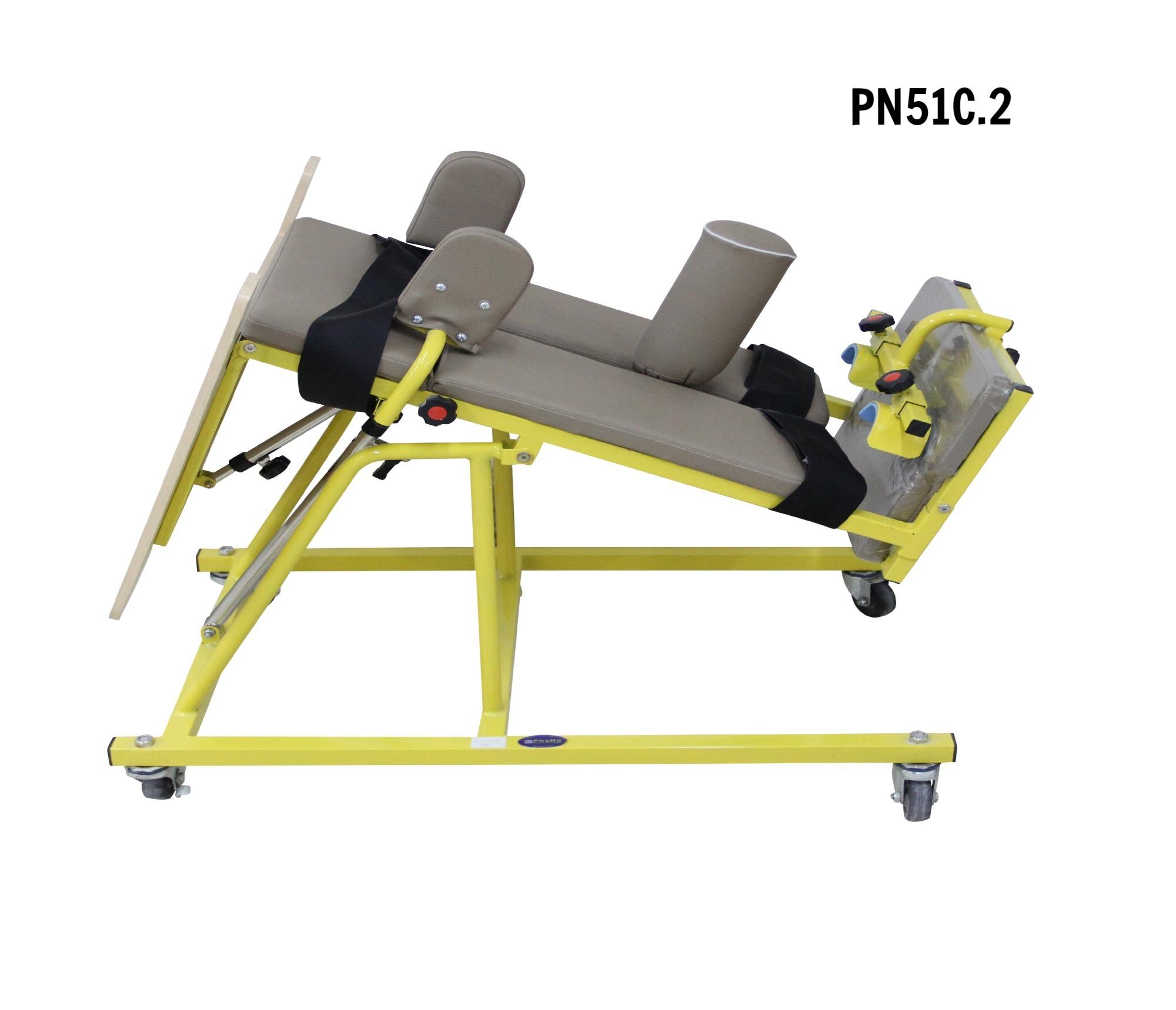 PN51C.2 - Bàn tập đứng bại não sấp loại cao có ụ ngồi