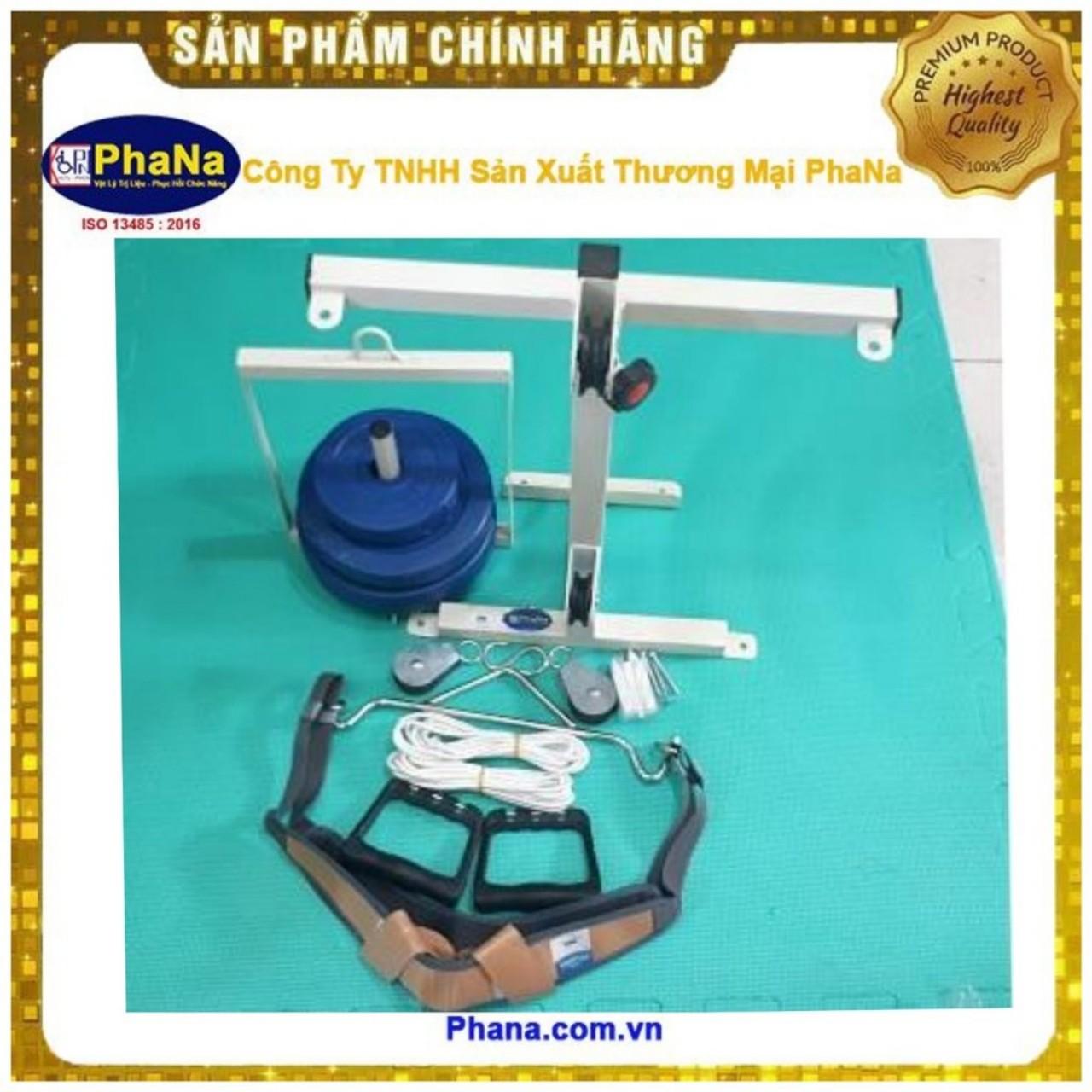 Dụng cụ kéo cổ tập tay/Bộ khung kéo cổ + kéo ròng rọc tập tay gắn tường PN-BKCTN