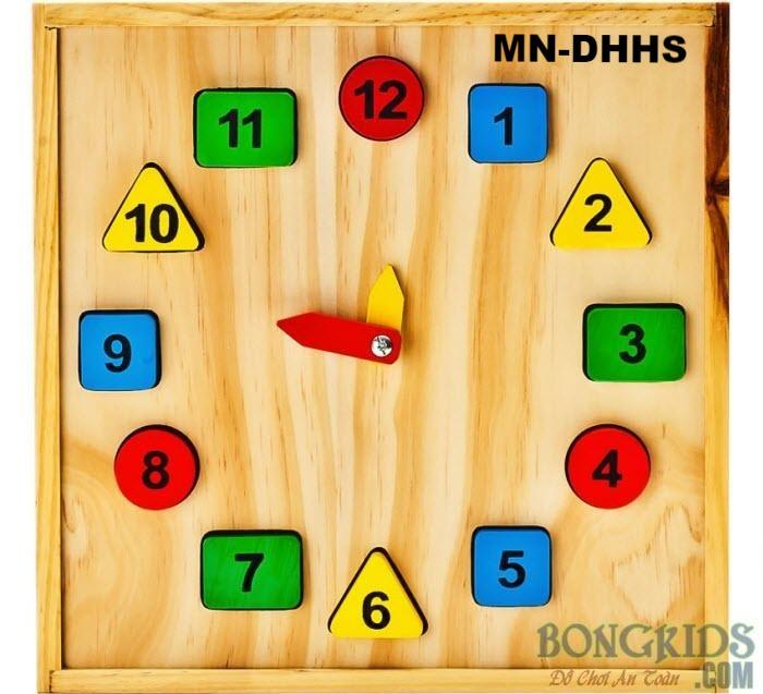 Đồng hồ học số hình học-MN-DHHS