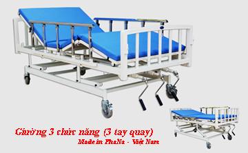 PN-0140 - Giường y tế tay quay 3 chức năng