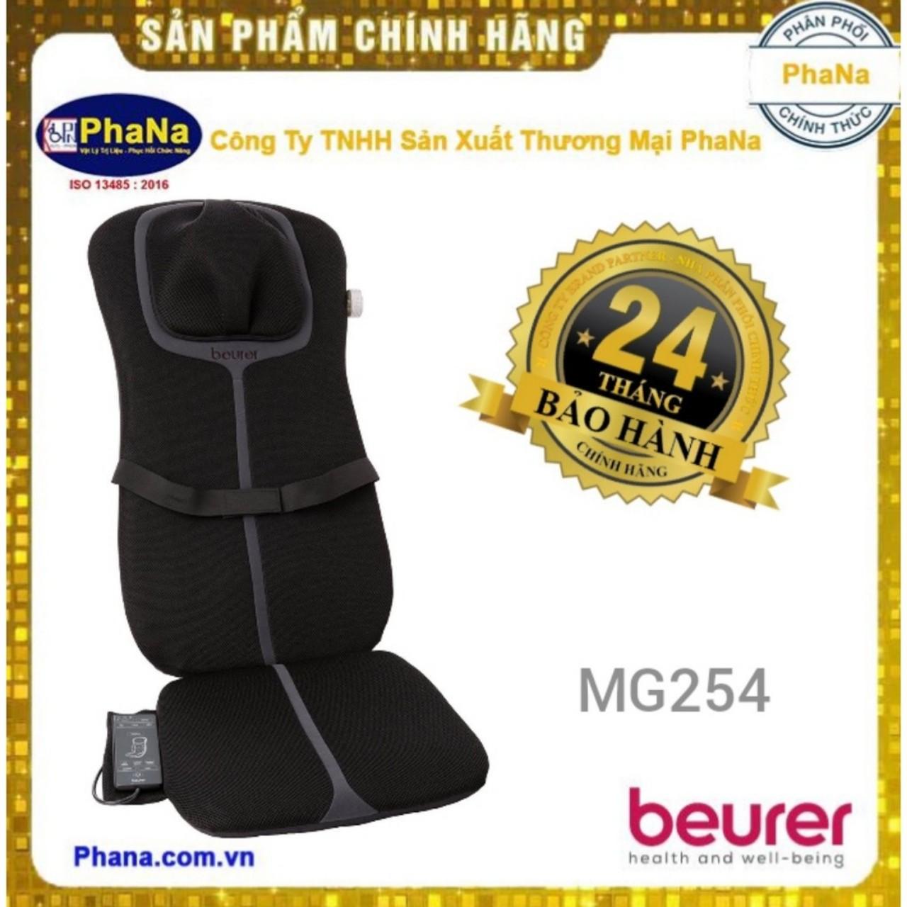 ĐỆM GHẾ MASSAGE LƯNG CỔ, CỘT SỐNG BEURER MG254