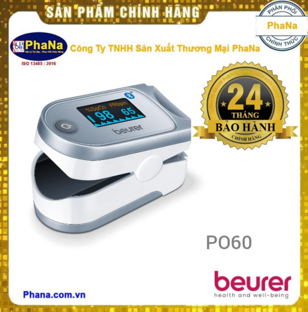 Máy đo nồng độ Oxy trong máu (SPO2) và nhịp tim kết nối Smartphone qua Bluetooth Beurer PO60