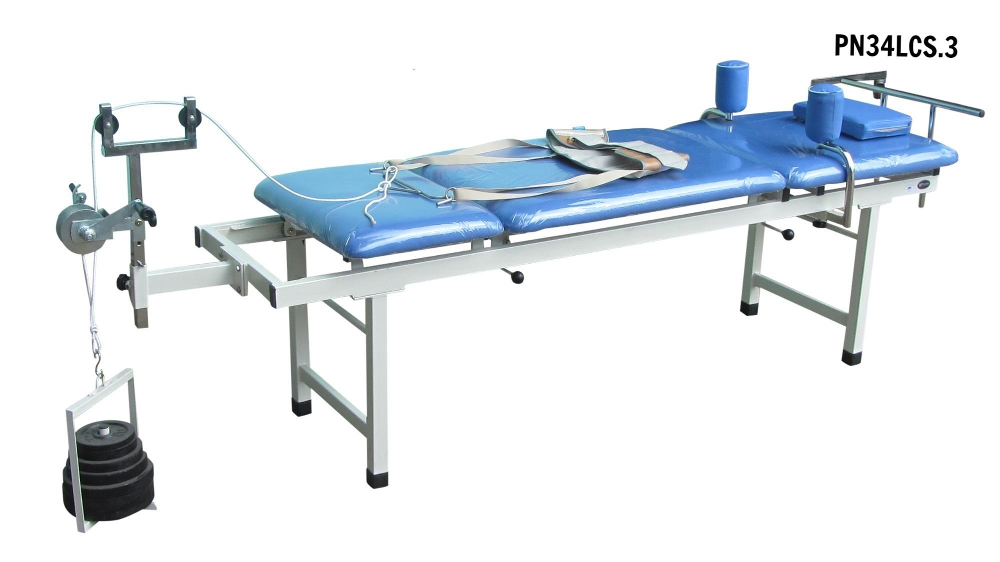 PN34LCS.3 - Giường kéo cột sống lưng + kéo cổ M3 (sắt)