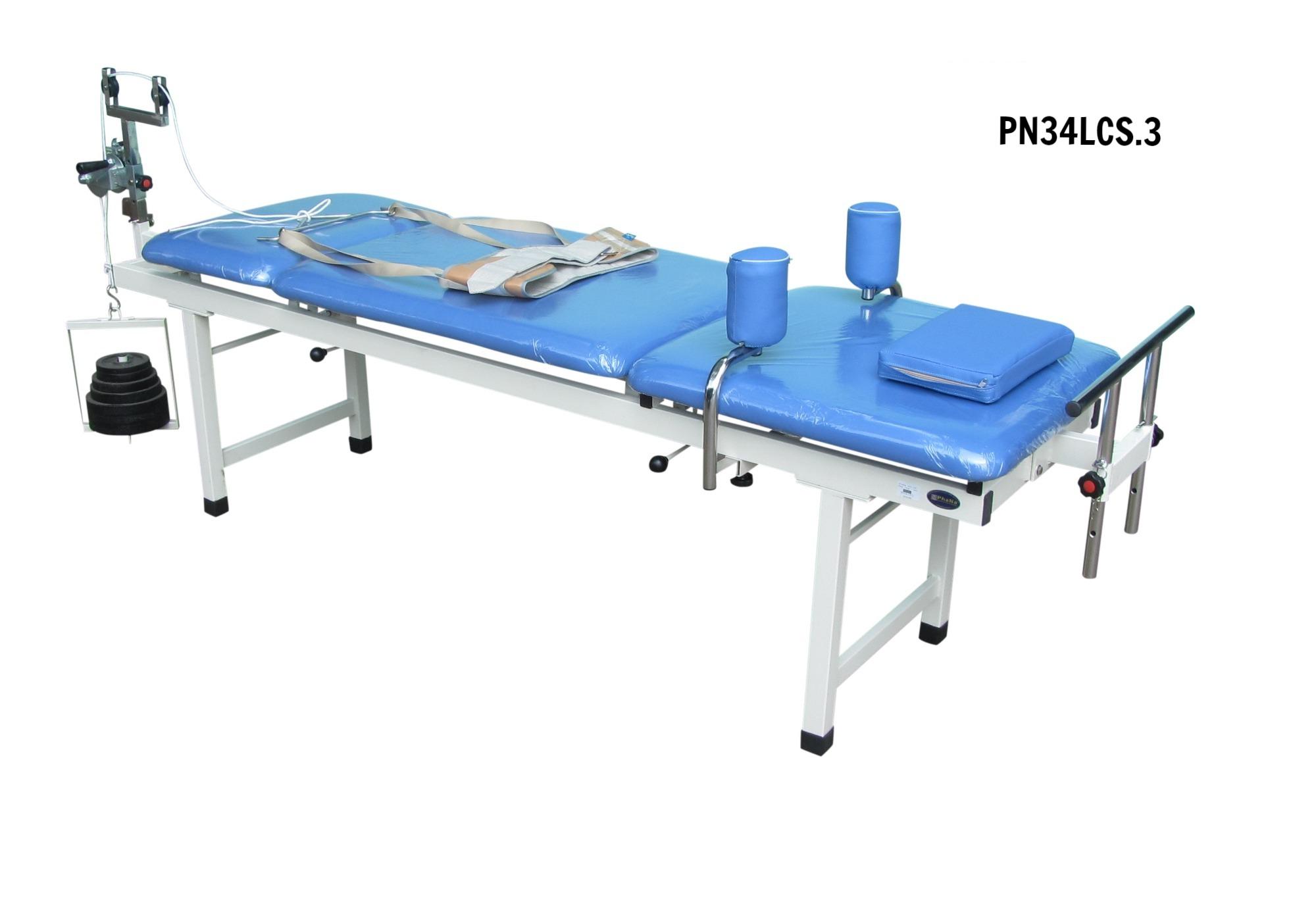 PN34LCS.3 - Giường kéo cột sống lưng + kéo cổ M3 (sắt) - PHCN loại mới
