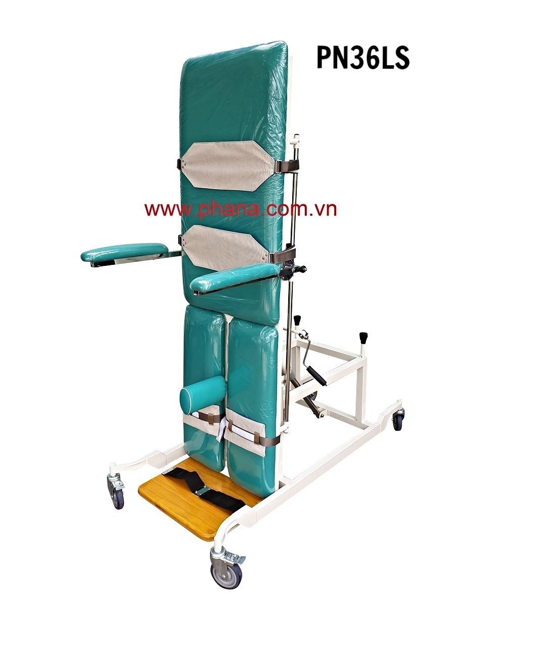 PN36LS - Giường xiên quay tập đứng bệnh nhân lớn
