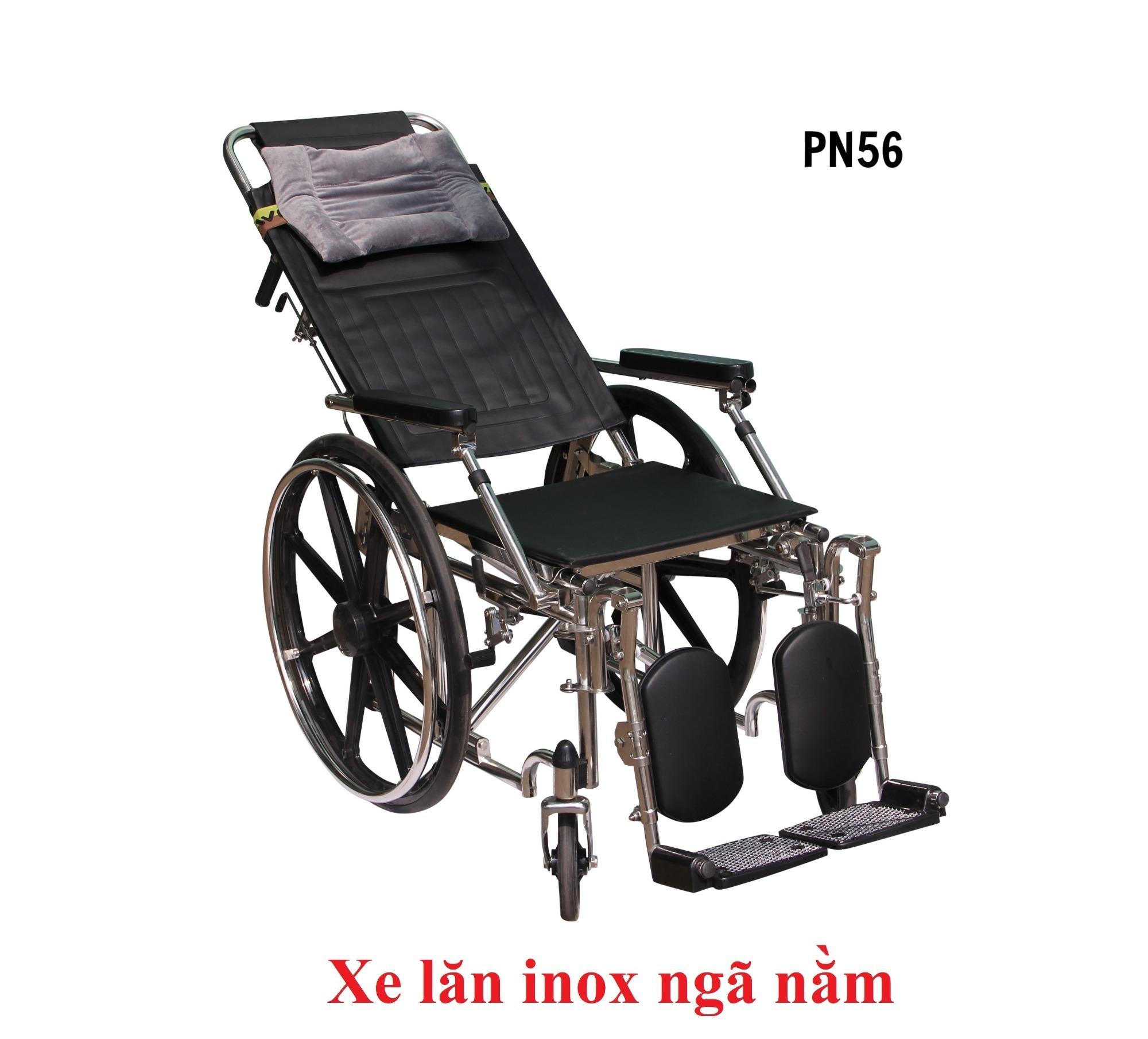 PN56 - Xe lăn inox ngã nằm