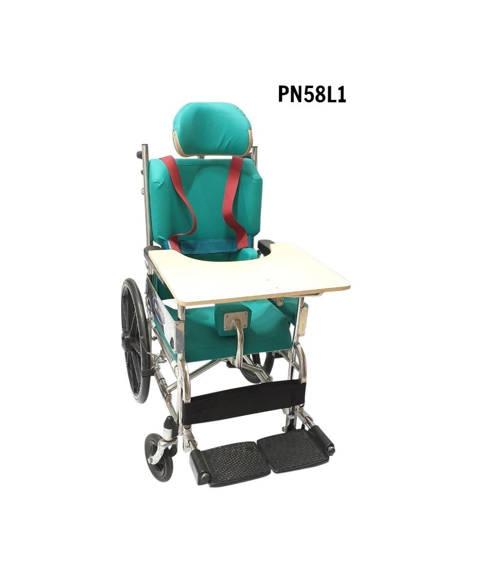 PN58L1 - Xe lăn trẻ bại não không vành lăn lớn