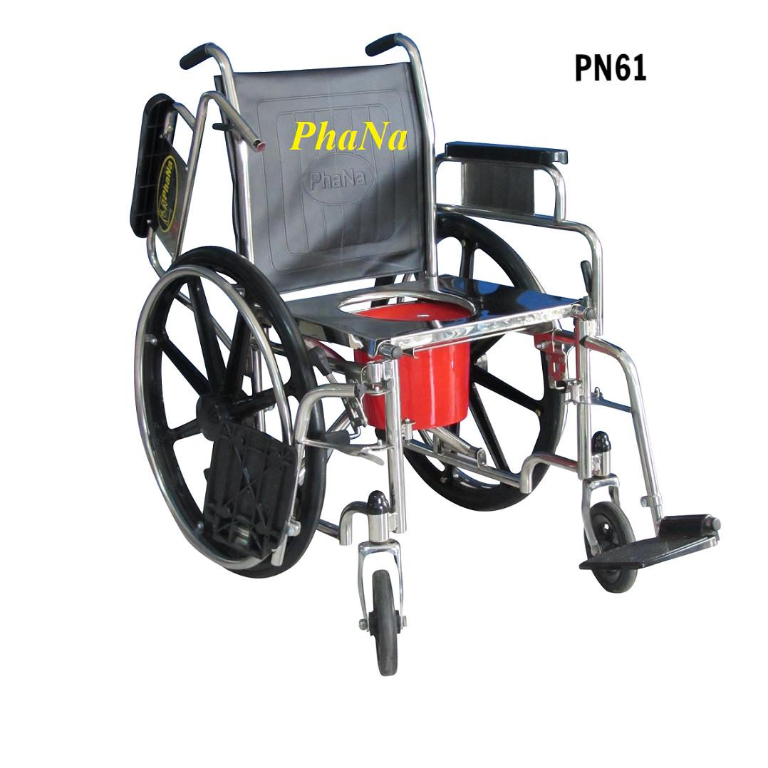 PN61 - Xe lăn vệ sinh inox tay rời
