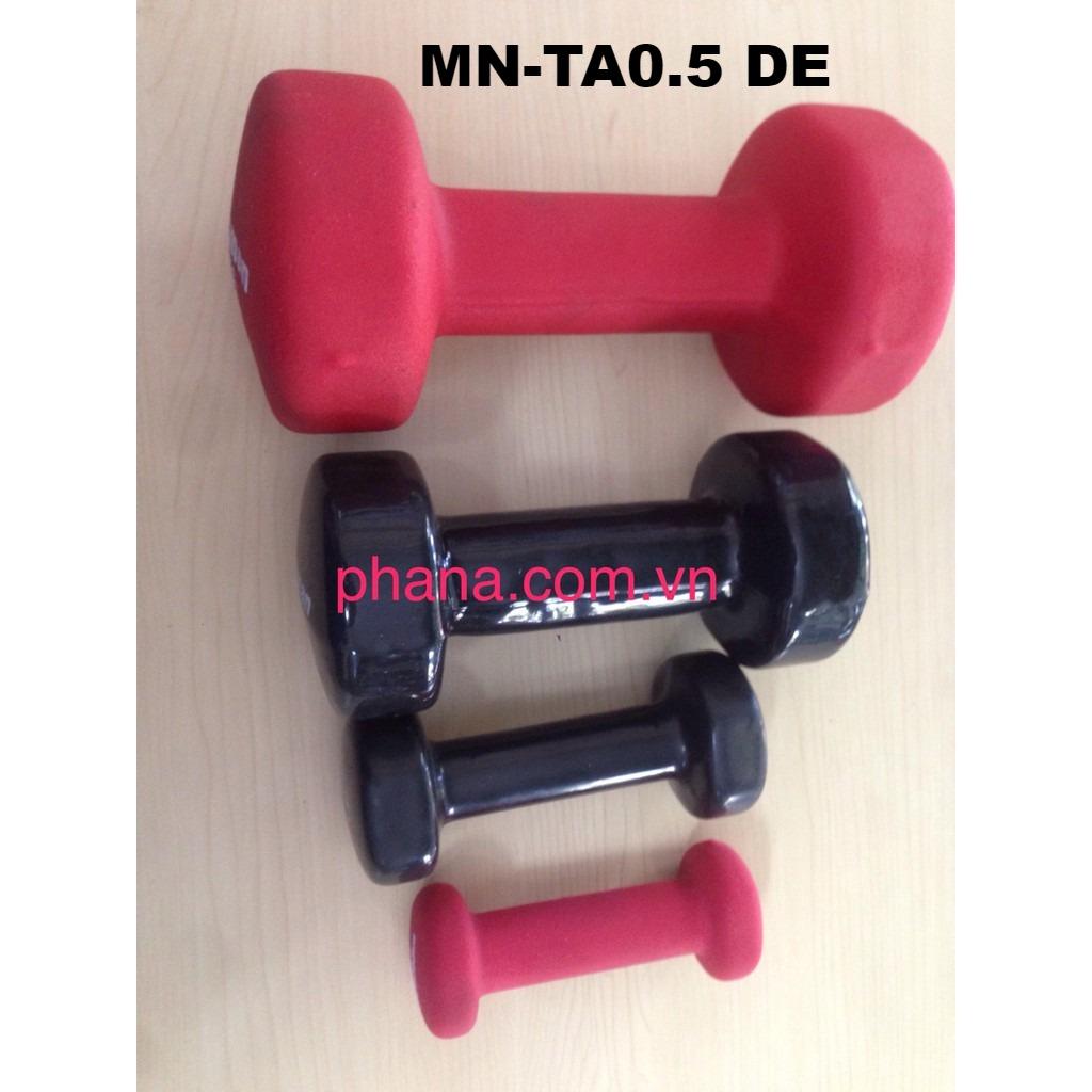 Tạ tay 0,5kg (sắt bọc nhựa) MN-TA0.5 DE