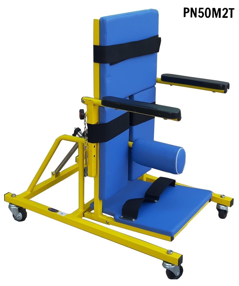 PN50M2T - Bàn tập đứng thẳng trẻ khuyết tật M2 loại thấp có ụ ngồi