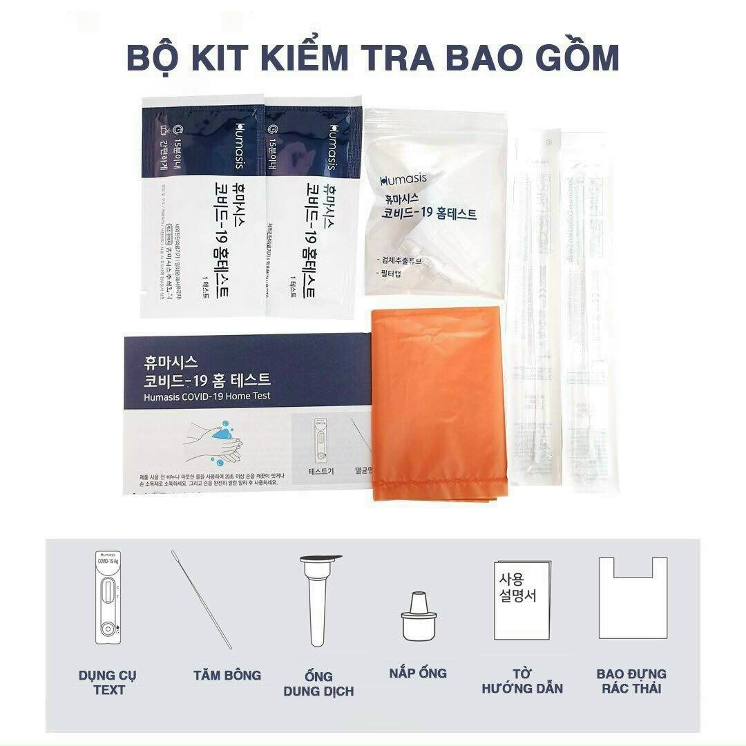 Bộ test nhanh COVID-19 Ag Humasis Hàn Quốc