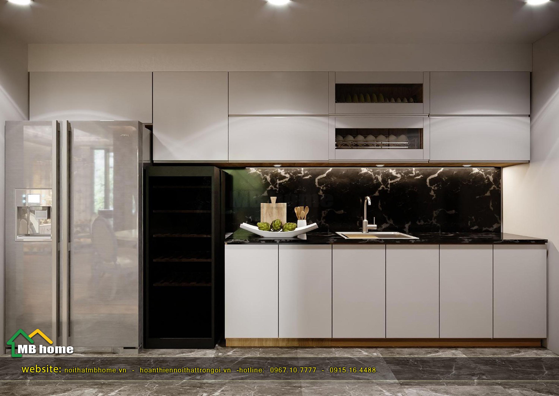 thiết kế nội thất bếp ăn