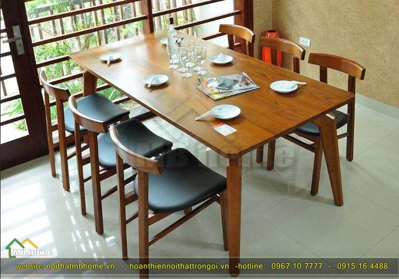 bàn ăn gỗ 6 người