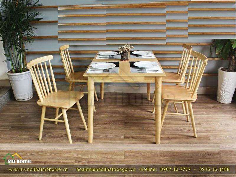 bàn ăn gỗ 4 người
