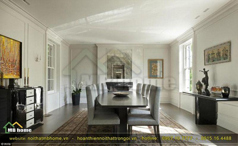 thiết kế bàn ăn gỗ