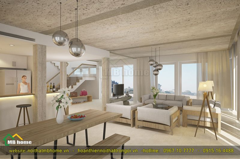 thiết kế nội thất villa
