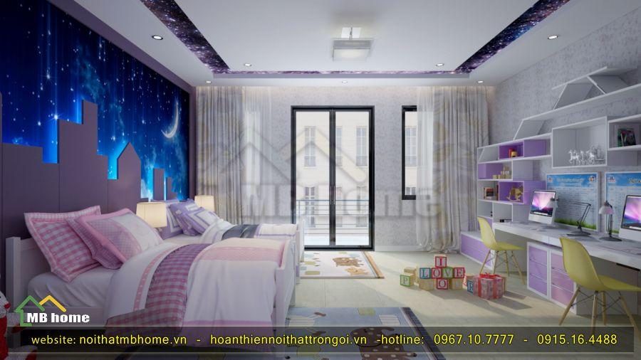 thiết kế nhà ở 2 phòng ngủ