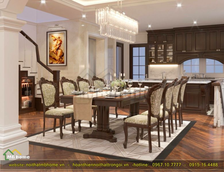thiết kế bàn ghế phòng ăn