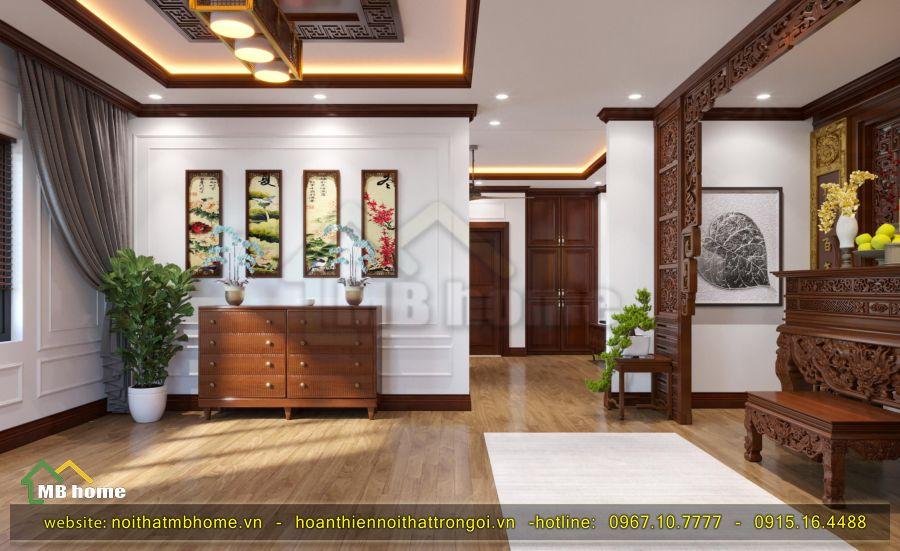 thiết kế bàn thờ gỗ