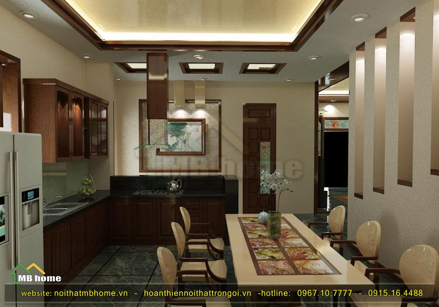 thiết kế nội thất phòng ăn