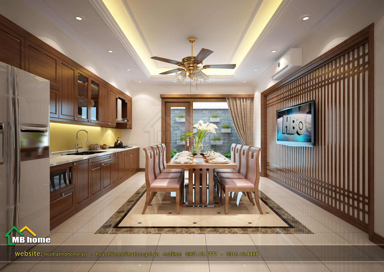 thiết kế bàn ăn gia đình