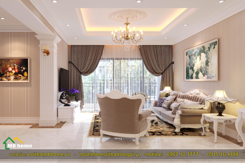 nội thất chung cư bán cổ điển