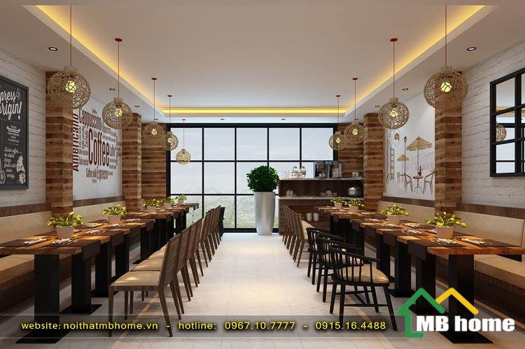 thiết thế nội thất nhà hàng quán ăn