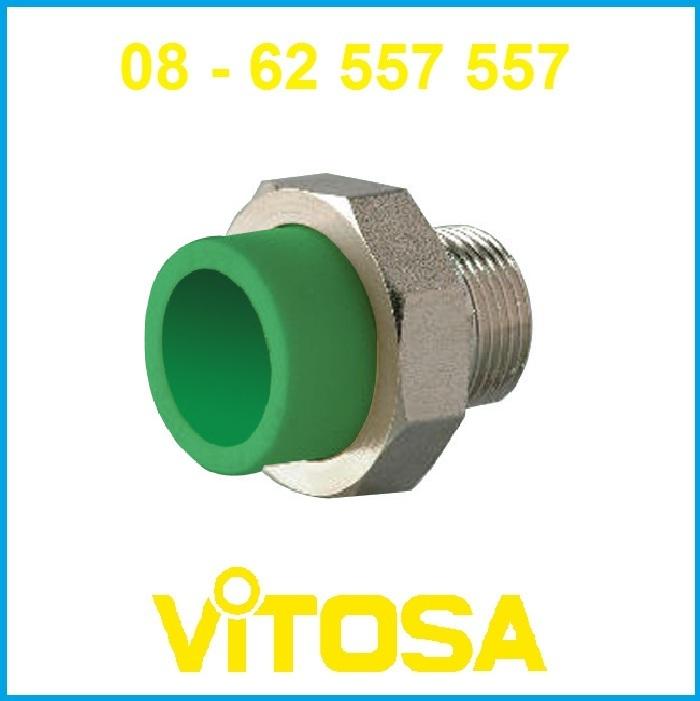 Rắc ro ren ngoài 20*1/2 PP-R Vitosa