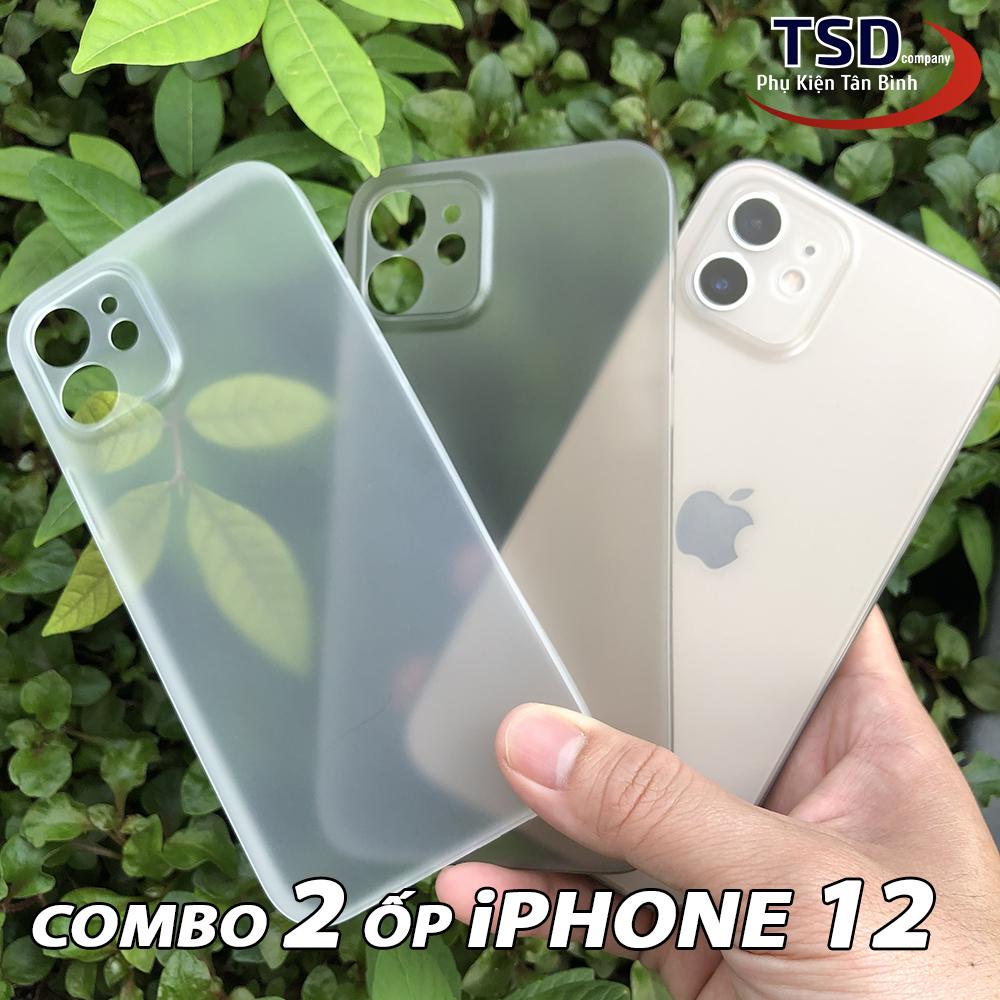 Combo 2 Ốp Lưng iPhone 12 Siêu Mỏng