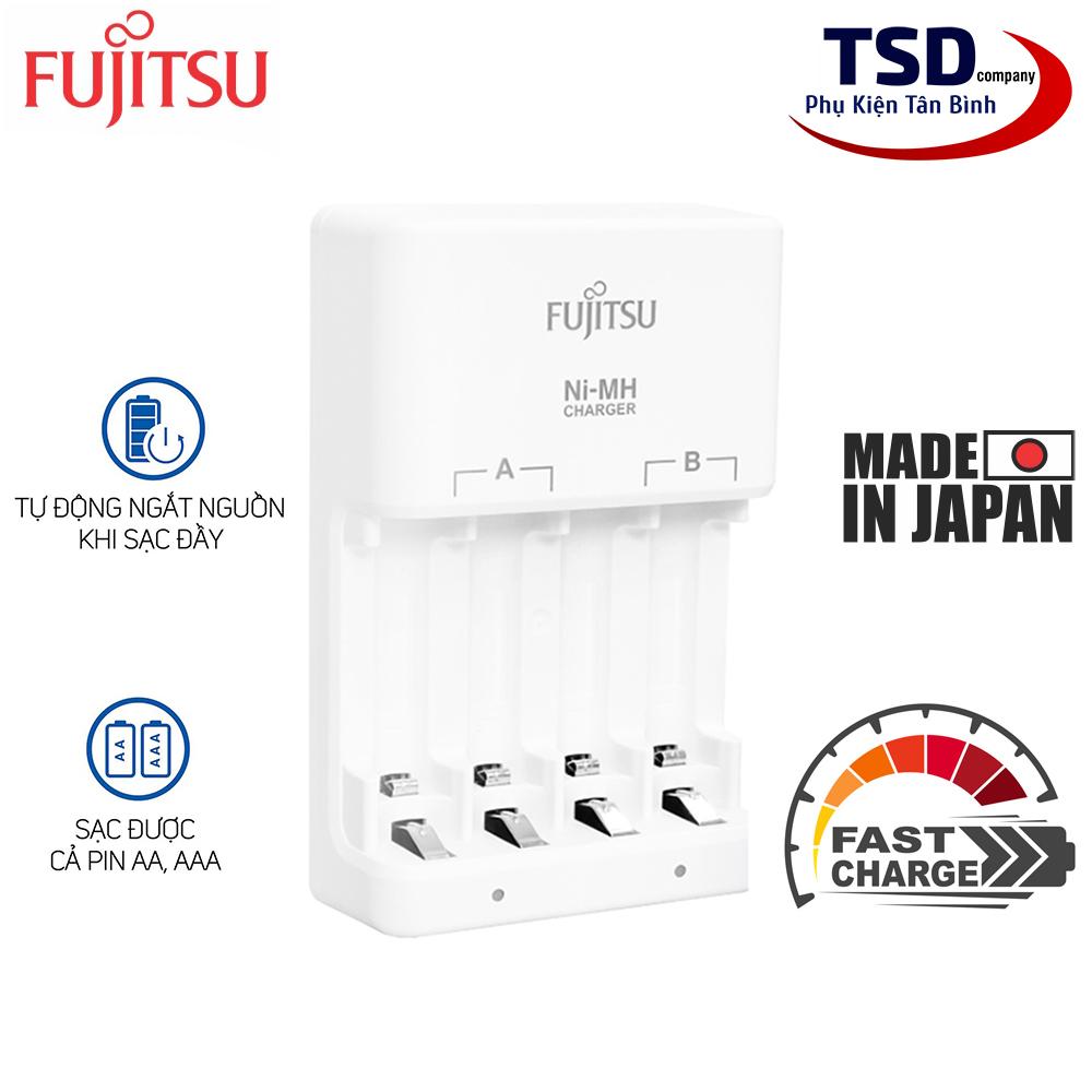 Dock Sạc Nhanh Pin AA, AAA Fujitsu FCT345 Chính Hãng ( Không Kèm Pin )